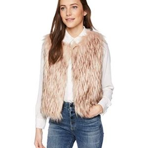 NWT BB Dakota Barbarella faux fur vest size small